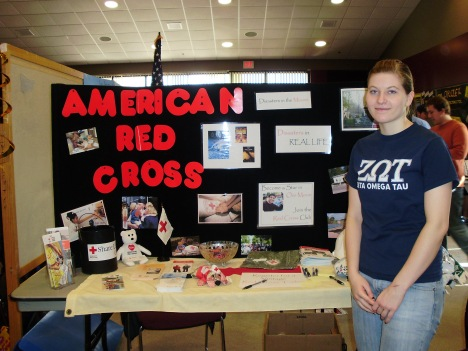 Red Cross Club Booth
