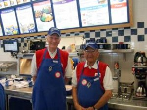 Joe and Joe, Volunteers, at the Culver's Hansen Road Location