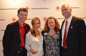 (l-r) Shawn Kiser, Special Events, Kate Burgess, Jody Weyers, Volunteer Director, Mike Gallagher, Board Chair.