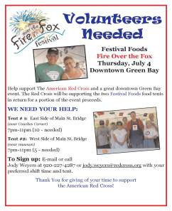 Volunteer Flyer- Festival Foods Fire over the Fox 2013 - needs update