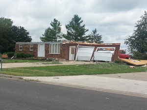 A house in the Freedom area destroyed by the tornadoes.