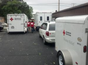 Staging area at the Appleton office for our feeding operation.