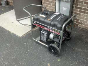 Briggs & Stratton donated generator being used to power our Appleton Red Cross office.