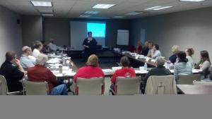 Volunteers at the 2012 Disaster Conference in Oshkosh taking training.