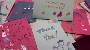 Cards made by the children at the Apple Tree Connection Daycare in Appleton.