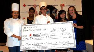 Appleton West was crowned the winner and recipient of the $1,000 cash award for raising $1,661.01