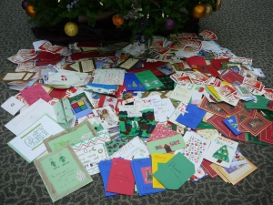 2,944 cards collected from the employees of Humana from their three locations in Green Bay.