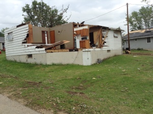 Some of the damage I saw as we toured the area.