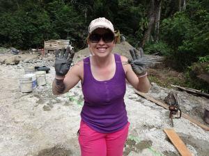 Building a dam in Panama