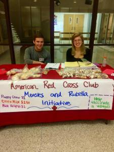 UWO Red Cross members sold yummy snacks to raise funds for the Measles and Rubella Initiative.