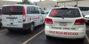 Cruz Roja at Edinburg shelter