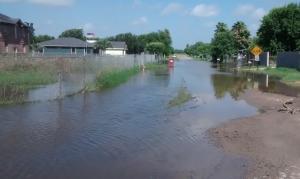 Flooded road, Edinburg, TX