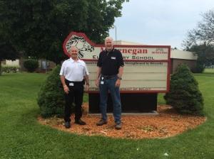 Tom Mooney, Regional CEO, and Dan Stauffacher, McLenegan School Safety Coordinator
