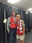 Brenda with Canadian Red Cross Ambassador. A famoussinger