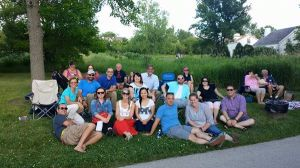 RCYP enjoying an outside evening concert, hosted by Heritage Hill.