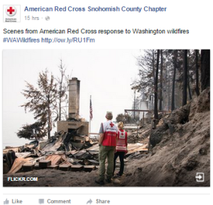 Red Cross workers witness the devastating affect of wildfires