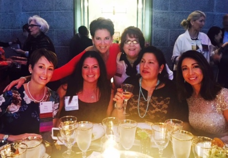 Wisconsin Tiffany Circle members. Back row: Marti Spittell Ziegelbauer, Patty Flowers; Front row: Sara Horein, Aymee Balison, LA Walker, Lavina Harjani-Kuzuhara