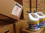 State Farm Clean up kit andbleach