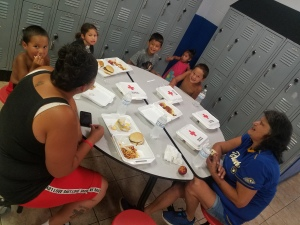 From bottom right Emmeretta Corn Chantel Alveshive Kewascum Rosie Ricky Lee Stalla Joseph Tribal School July 2019
