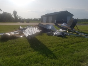 Knowlton barn siding tornado July 2019
