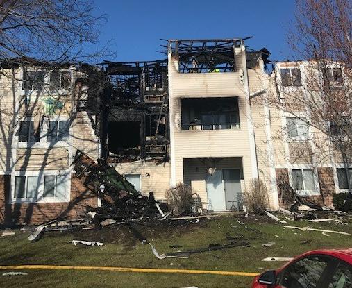 Muir Field Road fire Madison April 2020