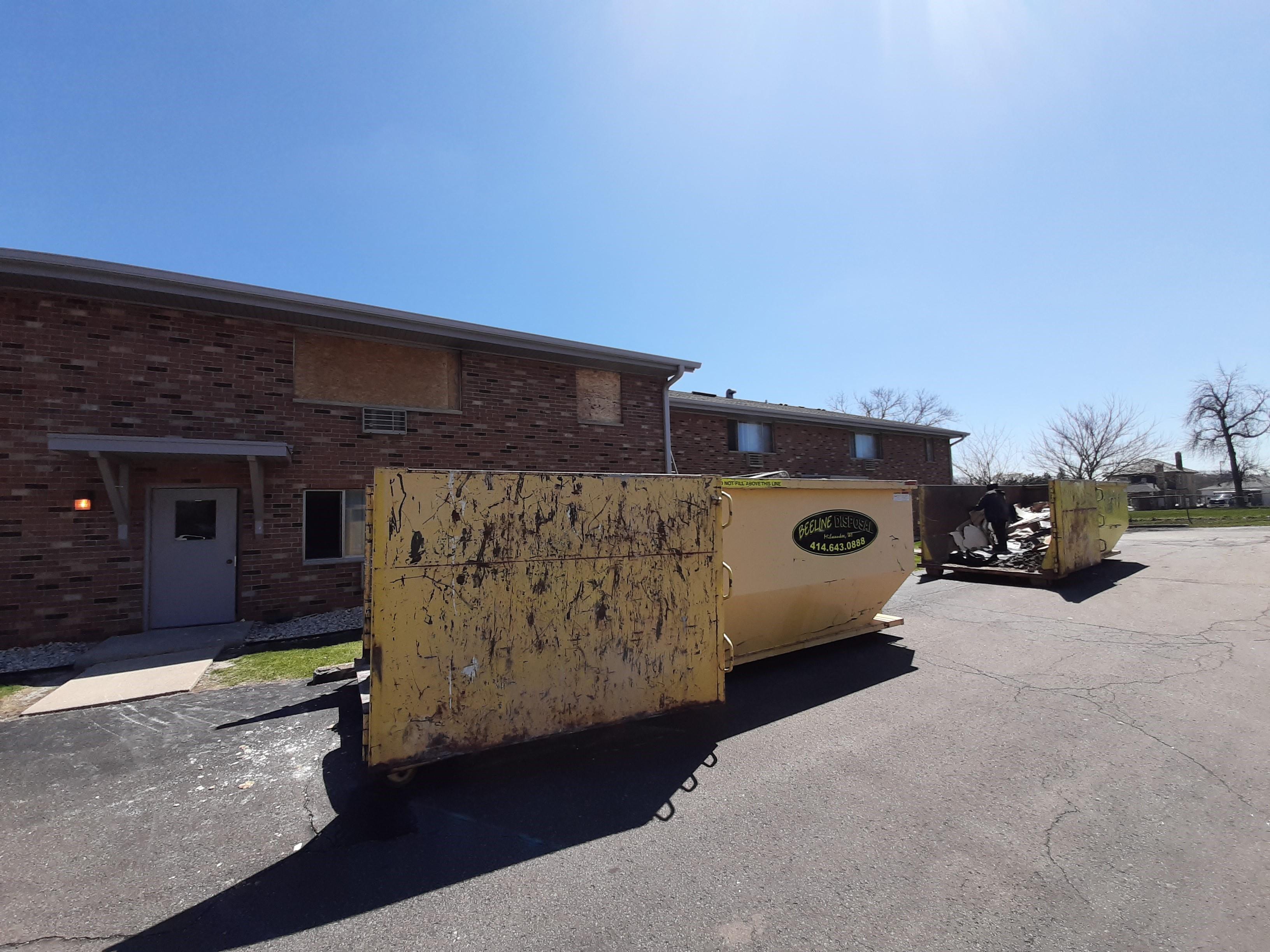 Greenfield Loomis apt fire April 2020 boards trash