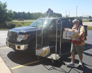 Kevin Connell lunch delivery Burlington DR Aug 2020